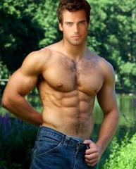 Muscle man pretty eyes